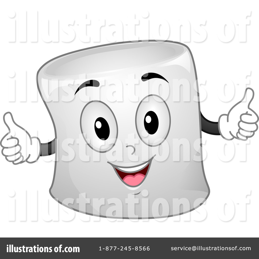 Royalty-Free (RF) Marshmallow Clipart Illustration by BNP Design Studio - Stock Sample