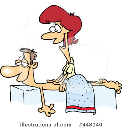 Royalty-Free (RF) Massage Clipart Illustration #443040 by Ron Leishman
