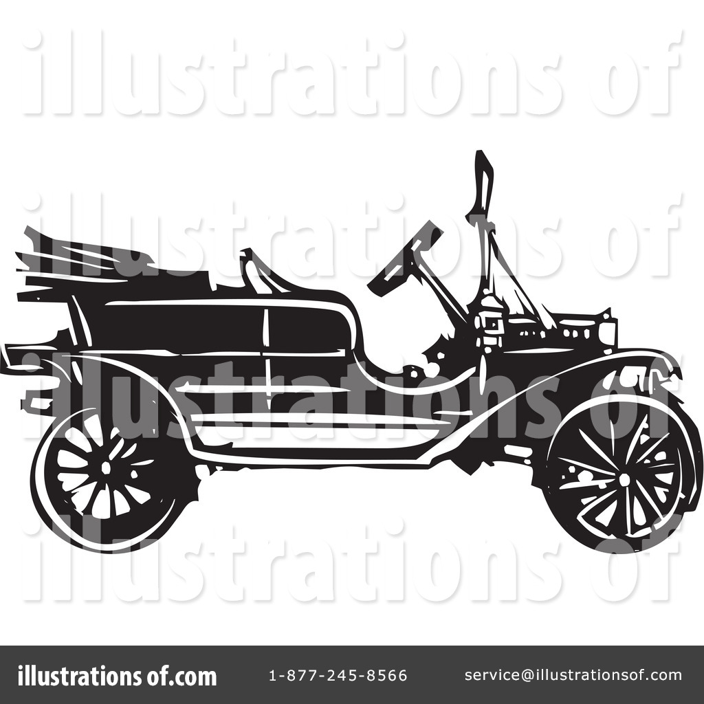 Royalty-Free (RF) Model T Clipart Illustration #1316380 by xunantunich