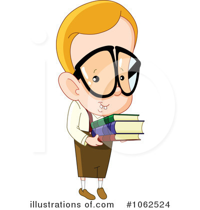 Royalty-Free (RF) Nerd Clipart Illustration #1062524 by yayayoyo