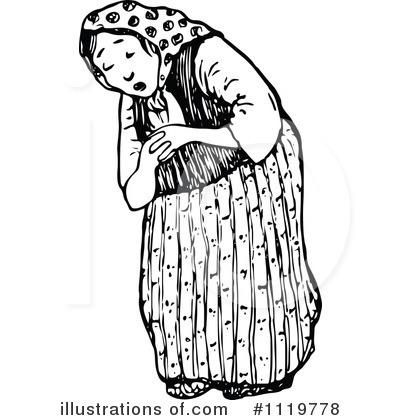 Royalty-Free (RF) Old Woman Clipart Illu-Royalty-Free (RF) Old Woman Clipart Illustration by Prawny Vintage - Stock Sample-12