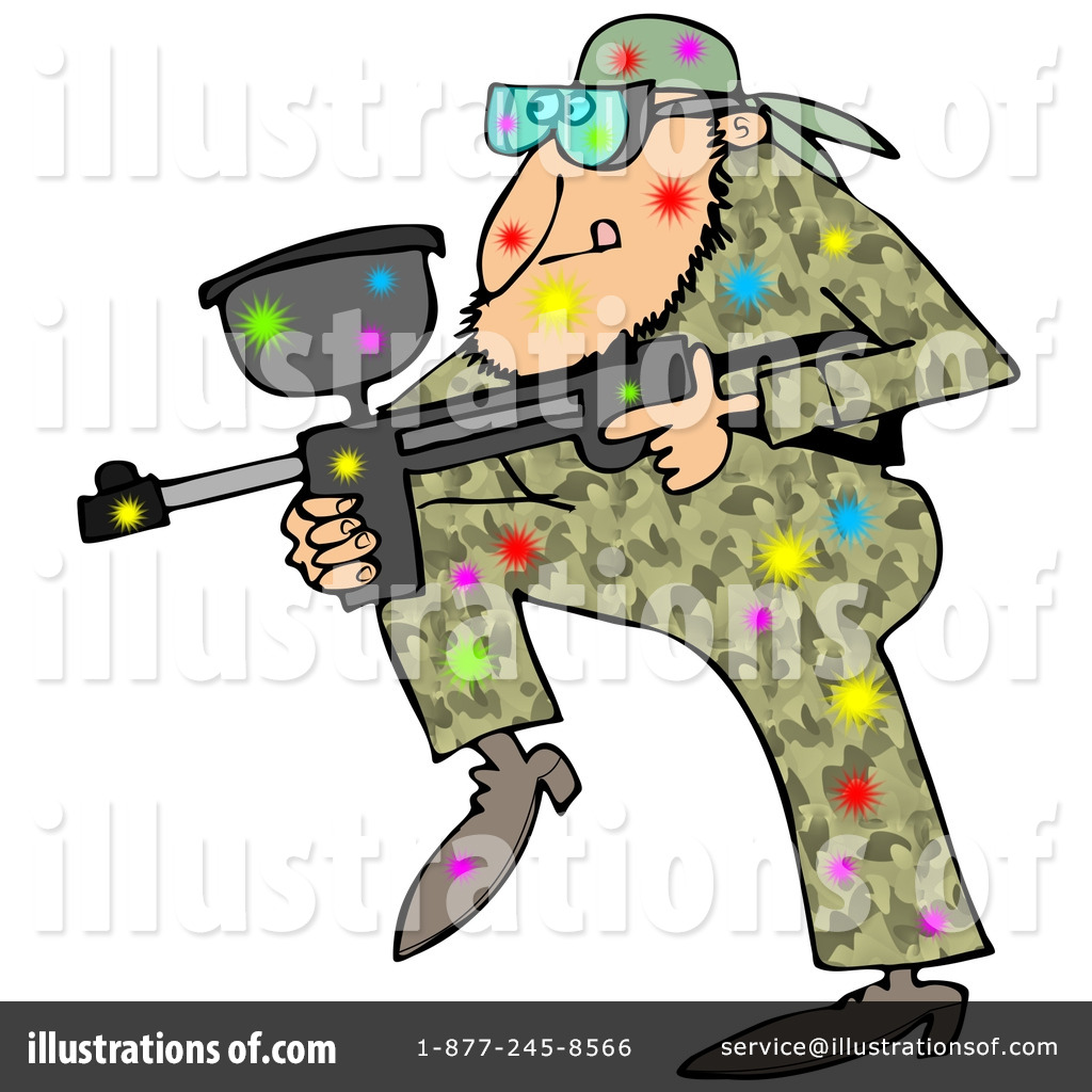 Royalty-Free (RF) Paintball Clipart Illustration #1221473 by Dennis Cox