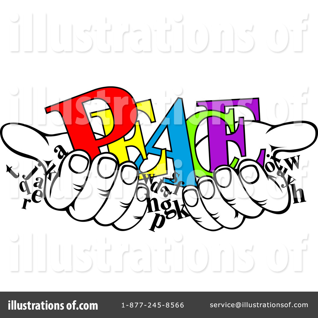Royalty-Free (RF) Peace Clipart Illustra-Royalty-Free (RF) Peace Clipart Illustration by Vector Tradition SM - Stock Sample-18