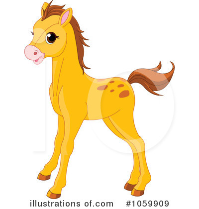 Royalty-Free (RF) Pony Clipart Illustration #1059909 by Pushkin