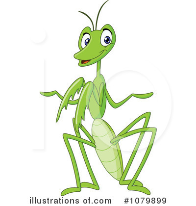 Royalty-Free (RF) Praying Mantis Clipart Illustration #1079899 by yayayoyo