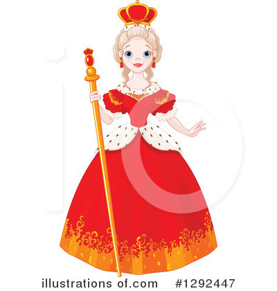 Royalty-Free (RF) Queen Clipart Illustra-Royalty-Free (RF) Queen Clipart Illustration #1292447 by Pushkin-15
