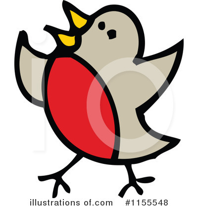 Royalty-Free (RF) Robin Clipart Illustration #1155548 by lineartestpilot