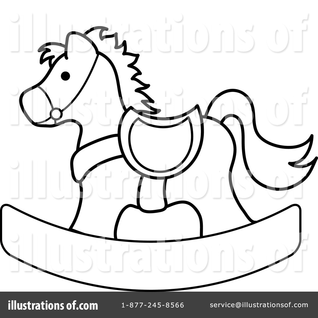 Royalty-Free (RF) Rocking Horse Clipart Illustration by Pams Clipart - Stock Sample