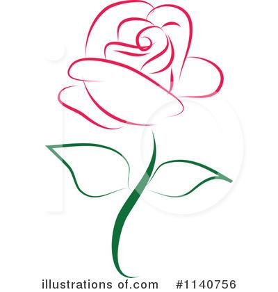 Royalty-Free (RF) Rose Clipart Illustrat-Royalty-Free (RF) Rose Clipart Illustration #1140756 by Vitmary Rodriguez-17