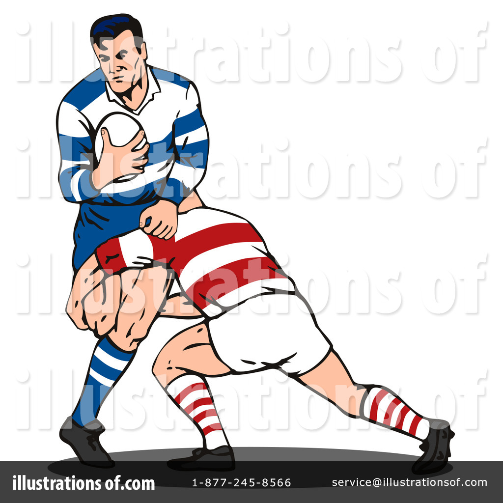 Royalty-Free (RF) Rugby Clipart Illustra-Royalty-Free (RF) Rugby Clipart Illustration #216328 by patrimonio-6