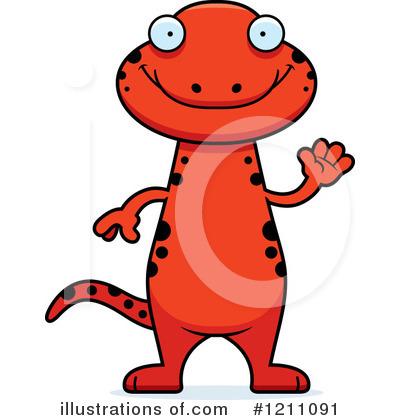 Royalty-Free (RF) Salamander Clipart Illustration #1211091 by Cory Thoman
