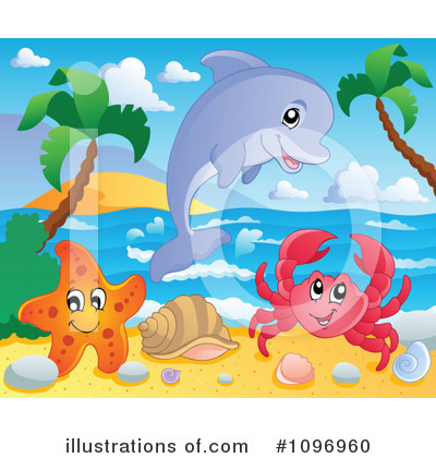 Royalty-Free (RF) Sea Life Clipart Illustration #1096960 by visekart