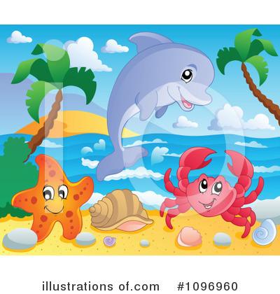 Royalty-Free (RF) Sea Life Clipart Illus-Royalty-Free (RF) Sea Life Clipart Illustration #1096960 by visekart-10