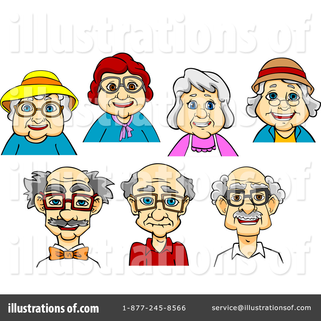Royalty-Free (RF) Senior Citizen Clipart-Royalty-Free (RF) Senior Citizen Clipart Illustration #1300144 by Vector Tradition SM-5