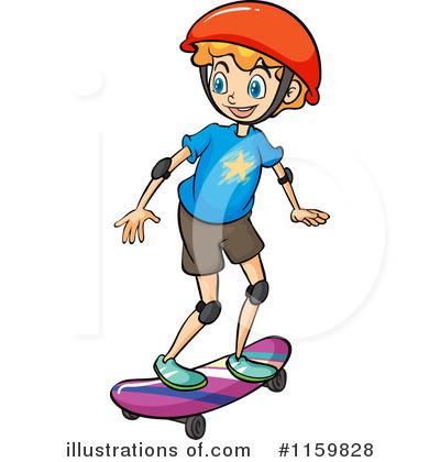 Royalty-Free (RF) Skateboarding Clipart -Royalty-Free (RF) Skateboarding Clipart Illustration #1159828 by colematt-11