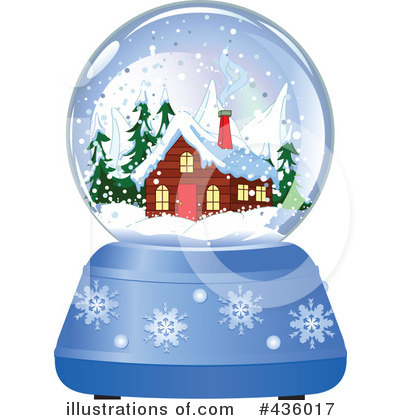 Royalty-Free (RF) Snow Globe Clipart Illustration #436017 by Pushkin