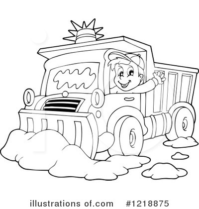 Royalty-Free (RF) Snow Plow Clipart Illustration #1218875 by visekart