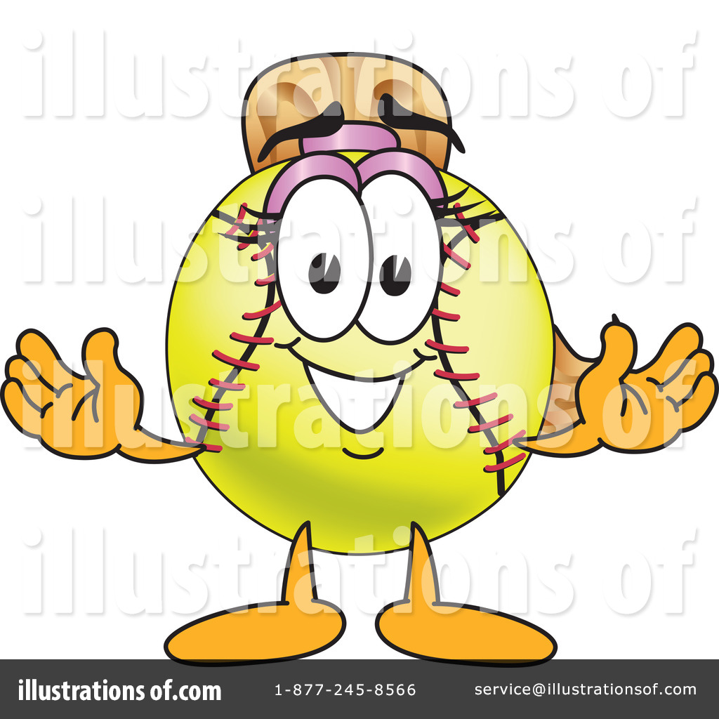 Royalty-Free (RF) Softball Mascot Clipar-Royalty-Free (RF) Softball Mascot Clipart Illustration #212963 by Toons4Biz-19