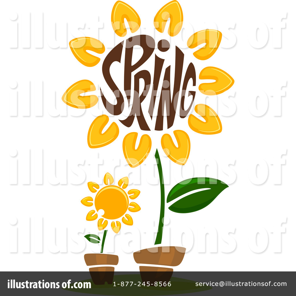 Royalty-Free (RF) Spring Time Clipart Illustration #1096377 by BNP Design Studio