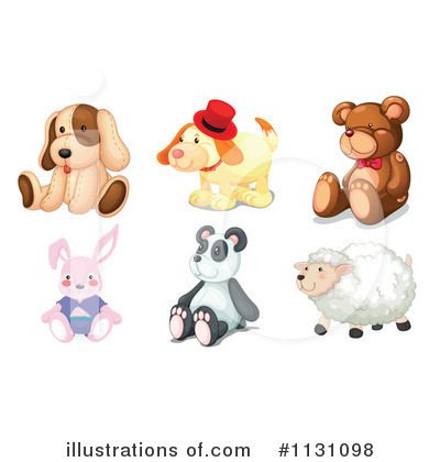 Royalty-Free (RF) Stuffed Animal Clipart-Royalty-Free (RF) Stuffed Animal Clipart Illustration #1131098 by colematt-6