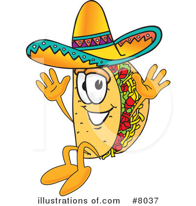 Royalty-Free (RF) Taco Clipart Illustration #8037 by Toons4Biz