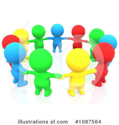 Royalty Free Rf Teamwork Clipart Illustration By 3pod Stock Sample