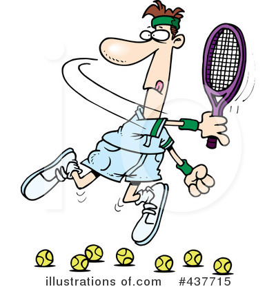 Royalty-Free (RF) Tennis Clipart Illustration #437715 by Ron Leishman
