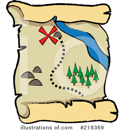 Royalty-Free (RF) Treasure Map Clipart I-Royalty-Free (RF) Treasure Map Clipart Illustration by Pams Clipart - Stock Sample-13
