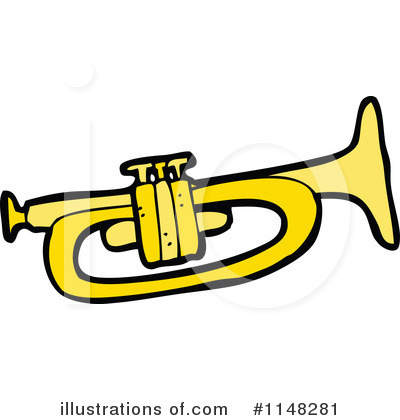 Royalty-Free (RF) Trumpet Clipart Illust-Royalty-Free (RF) Trumpet Clipart Illustration #1148281 by lineartestpilot-7