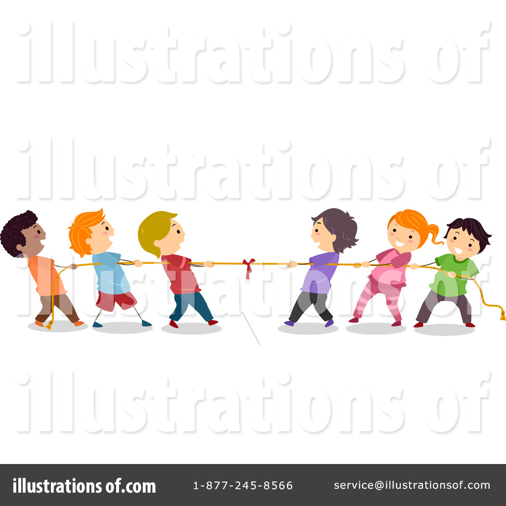 Royalty-Free (RF) Tug Of War Clipart Illustration #1182265 by BNP Design Studio