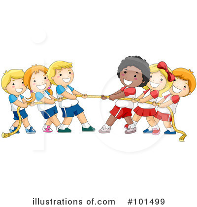 Royalty Free Rf Tug Of War Clipart Illustration By Bnp Design Studio