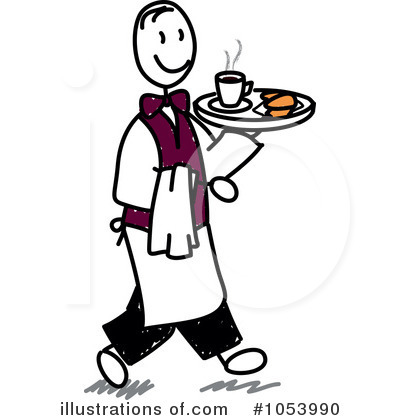 Royalty-Free (RF) Waiter Clipart Illustr-Royalty-Free (RF) Waiter Clipart Illustration #1053990 by Frog974-4
