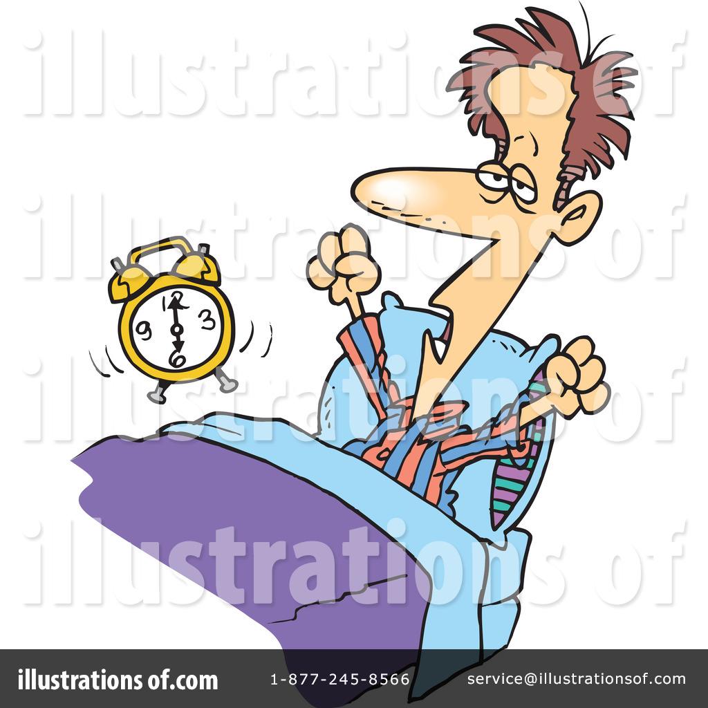 Royalty-Free (RF) Waking Up Clipart Illu-Royalty-Free (RF) Waking Up Clipart Illustration by Ron Leishman - Stock Sample-7