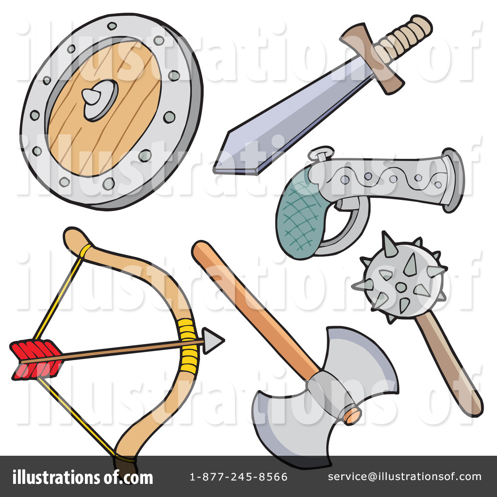 Set Of Medieval Weapon And ..
