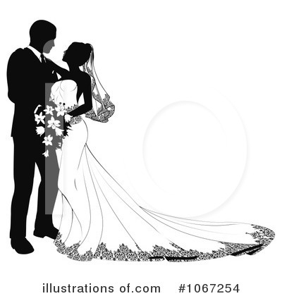 Royalty Free Rf Wedding Couple Clipart Illustration 1067254 By Geo