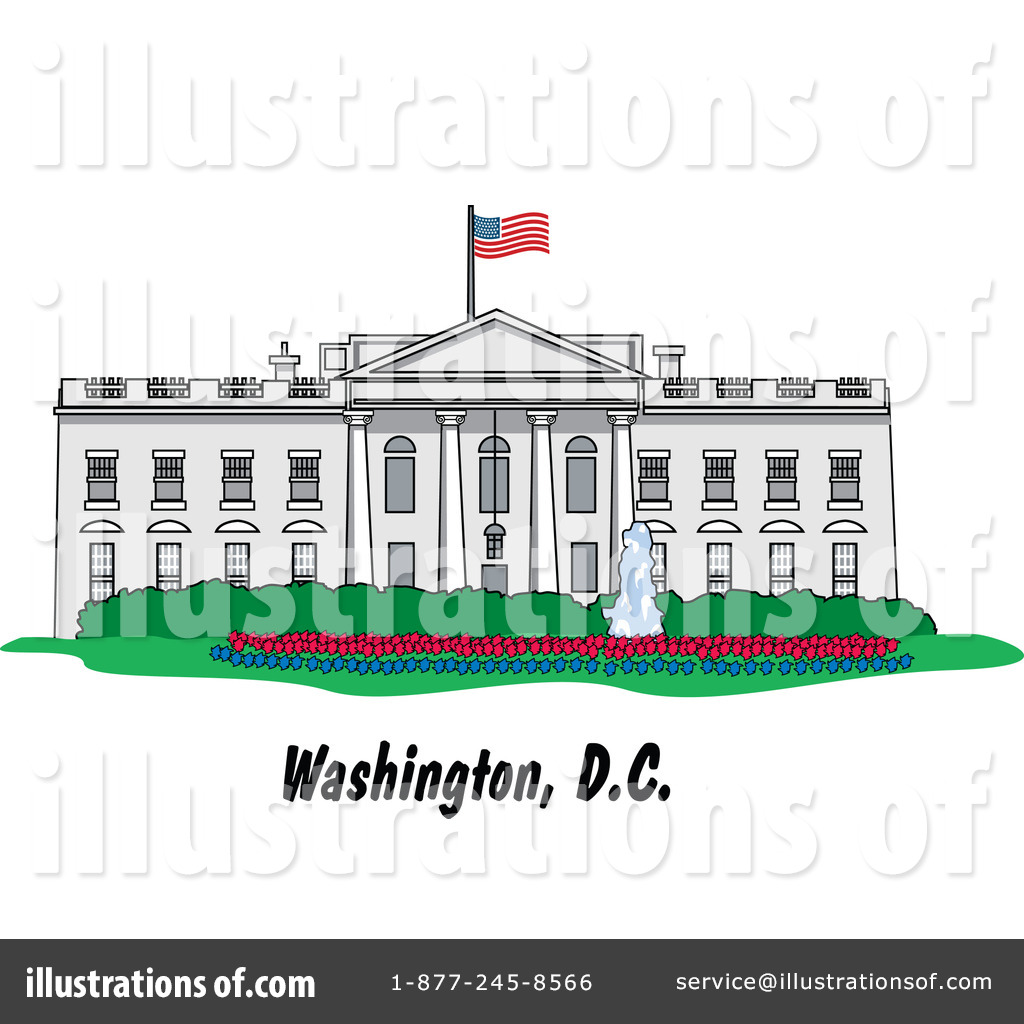 Royalty-Free (RF) White House Clipart Illustration by Andy Nortnik - Stock Sample