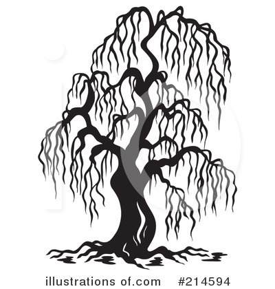 Royalty-Free (RF) Willow Tree Clipart Illustration #214594 by visekart