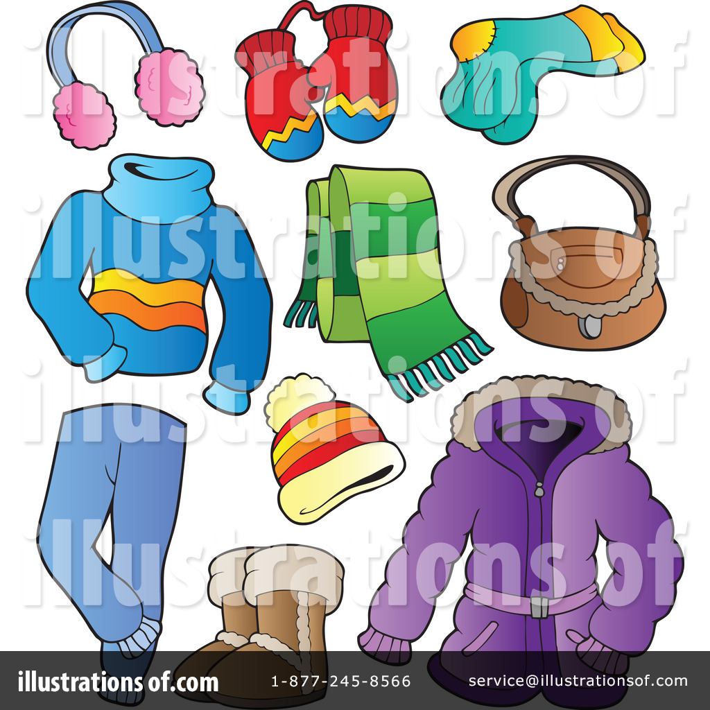 Royalty-Free (RF) Winter Clothes Clipart-Royalty-Free (RF) Winter Clothes Clipart Illustration #1081660 by visekart-11