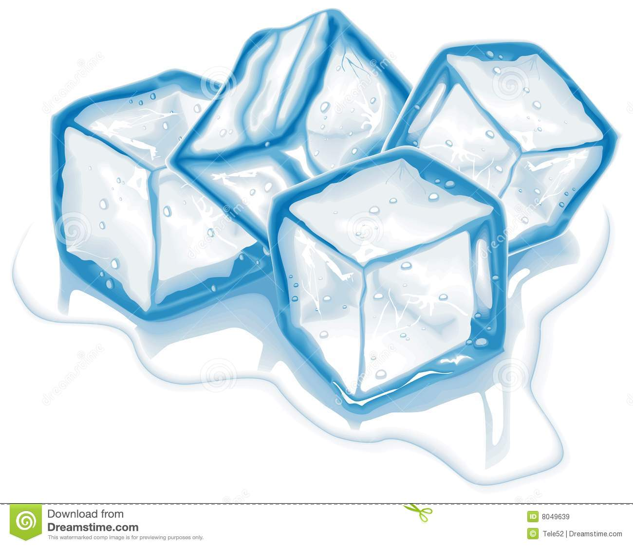 Royalty Free Stock Images Four Vector Ic-Royalty Free Stock Images Four Vector Ice Cubes-6