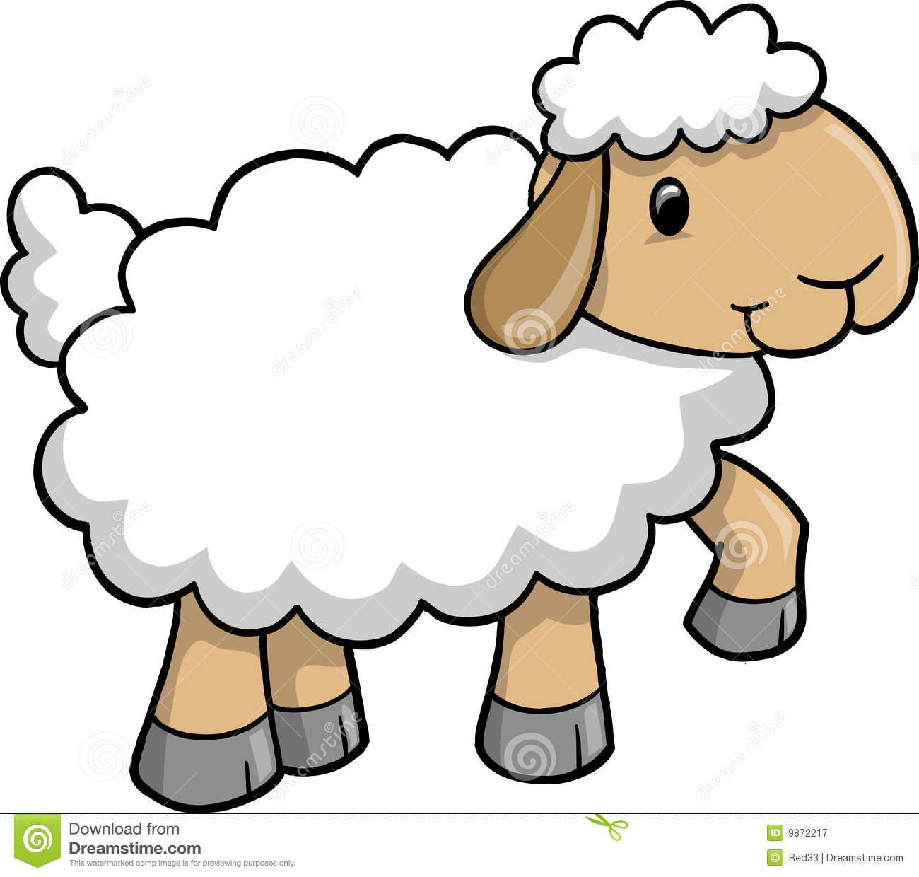 Royalty Free Stock Photography Cute Shee-Royalty Free Stock Photography Cute Sheep Vector-3