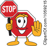Royalty Free Vector Clip Art  - Free Stop Sign Clip Art