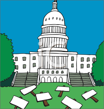 Royalty Free White House Clipart