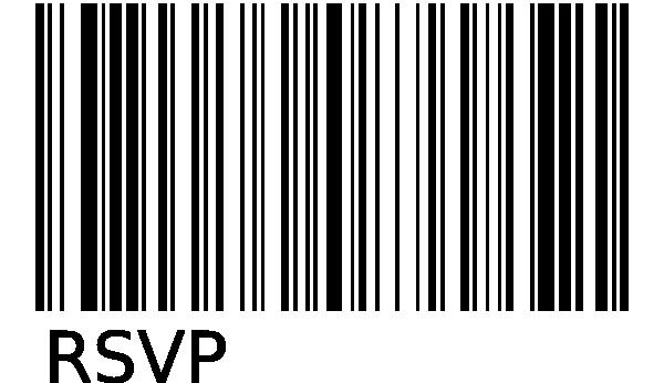 Rsvp Bar Code Clip Art600