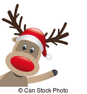 ... rudolph reindeer red nose wave santa claus