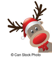 rudolph?s love Clip Artby gatterwe3/114;-rudolph?s love Clip Artby gatterwe3/114; rudolph reindeer red nose and hat scarf-12