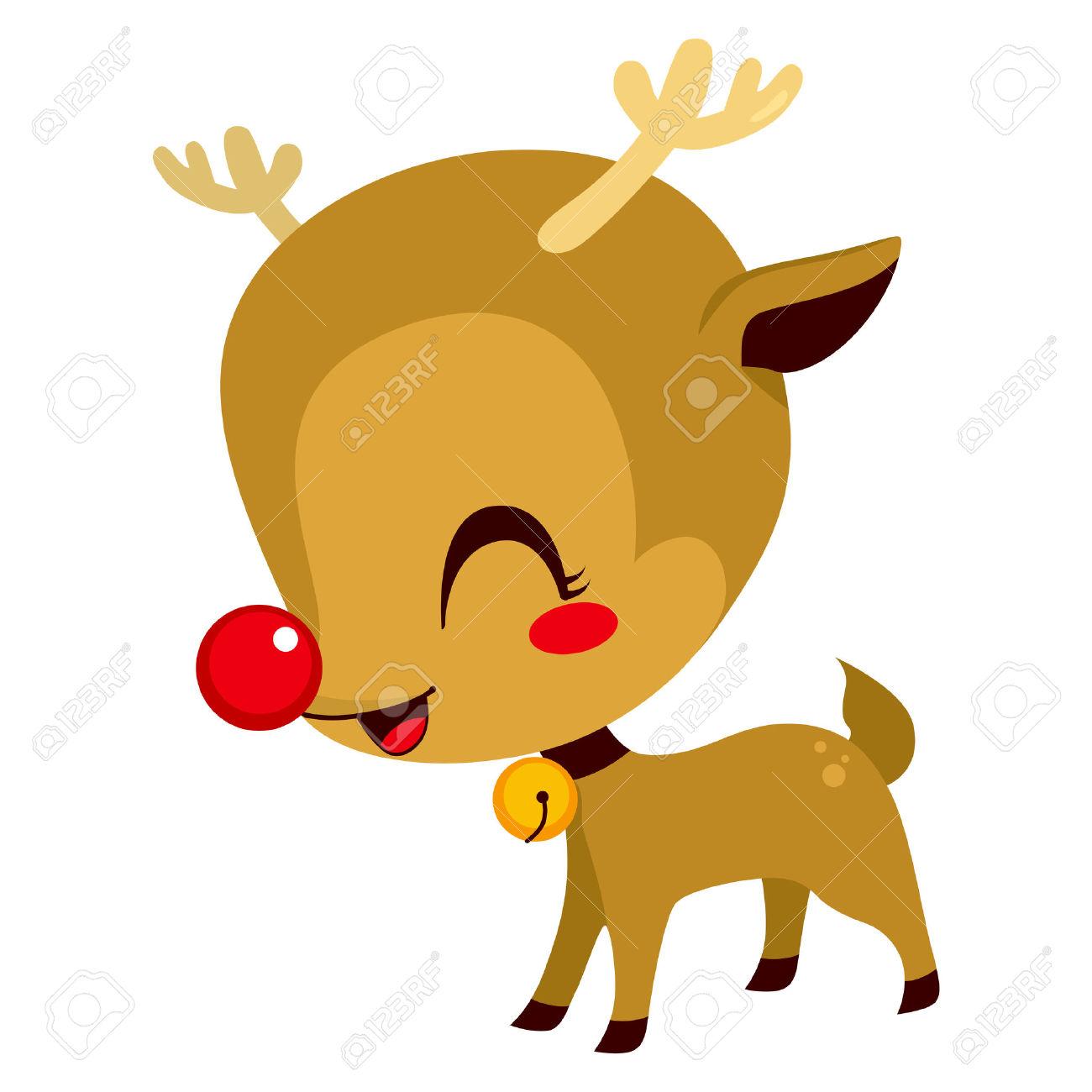 rudolph the red nose reindeer - Cute Reindeer Clipart