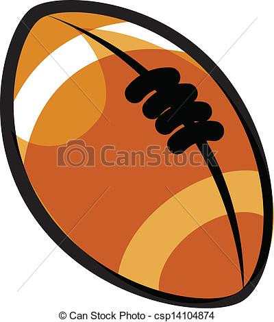 A rugby ball
