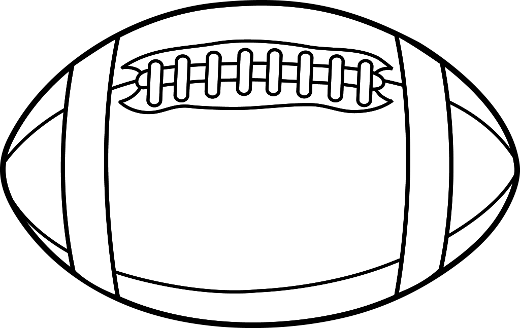 Image result for rugby ball clipart black and white