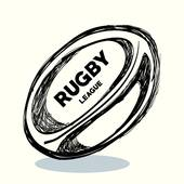 Rugby ball seamless background pattern · hand drawing rugby ball design