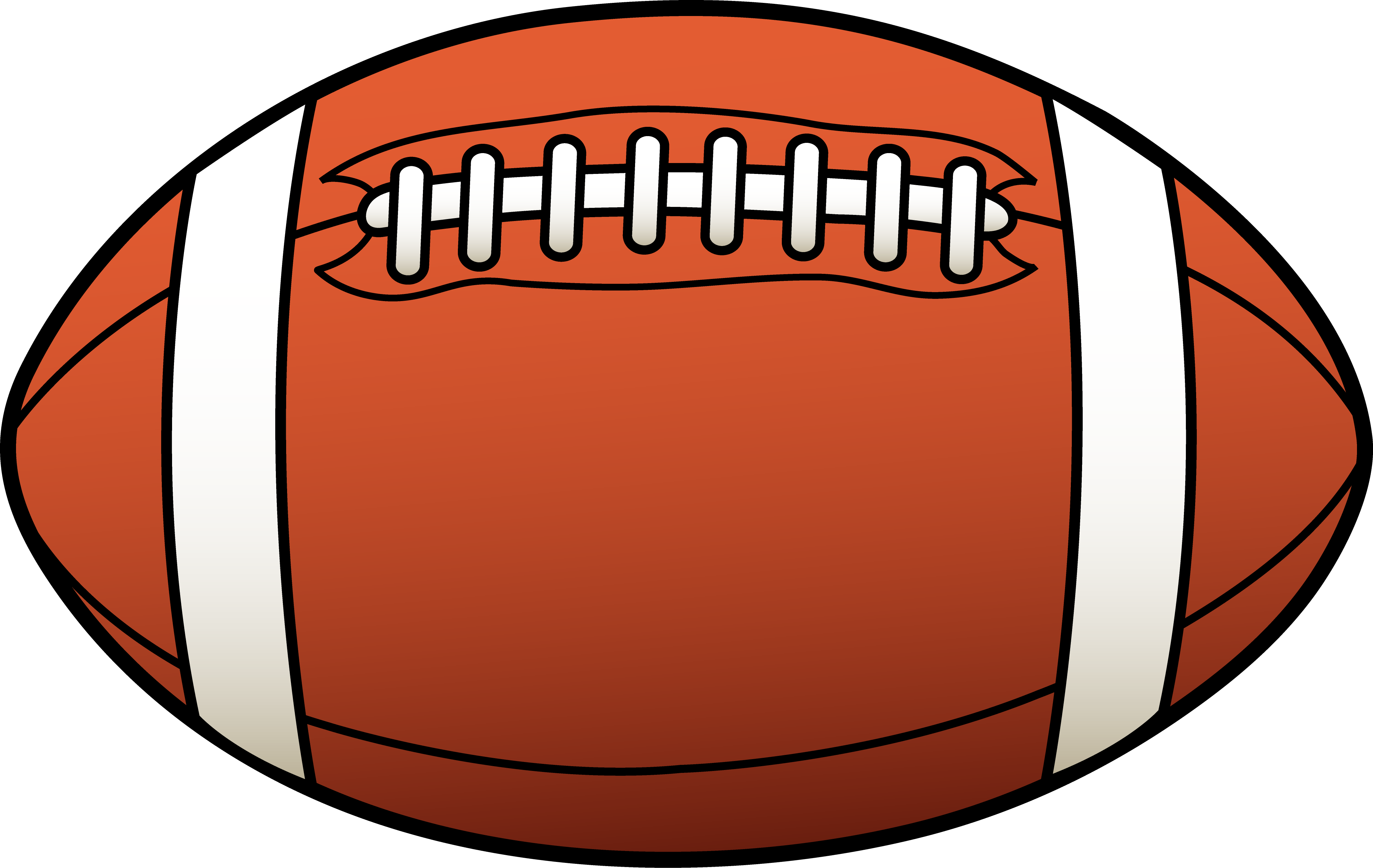Rugby Ball or American Football - Free Clip Art